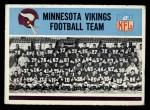 1966 Philadelphia #105   Vikings Team Front Thumbnail