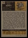 1971 Topps #182  Royce Berry  Back Thumbnail