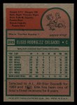 1975 Topps Mini #285  Ellie Rodriguez  Back Thumbnail