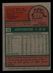 1975 Topps Mini #45  Joe Rudi  Back Thumbnail
