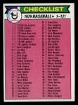 1979 Topps #121   Checklist 1 Front Thumbnail