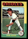 1975 Topps Mini #516  Don Hood  Front Thumbnail
