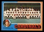 1975 Topps Mini #246   -  Red Schoendienst Cardinals Team Checklist Front Thumbnail