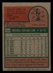 1975 Topps Mini #154  Mike Lum  Back Thumbnail