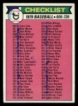1979 Topps #669   Checklist 6 Front Thumbnail