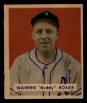1949 Bowman #138  Buddy Rosar  Front Thumbnail