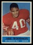 1964 Philadelphia #166  Abe Woodson   Front Thumbnail