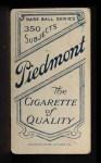 1909 T206 POR Gabby Street  Back Thumbnail