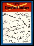 1973 Topps Blue Checklist   Indians Front Thumbnail
