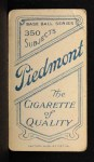 1909 T206  Ed Lennox  Back Thumbnail