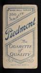 1909 T206  Eddie Phelps  Back Thumbnail