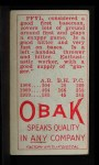 1911 T212 Obak RED Monte Pfyl  Back Thumbnail