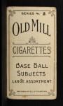 1910 T210-2 Old Mill Virginia League  Hamilton  Back Thumbnail