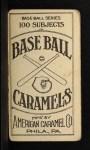 1909 E90-1 American Caramel  Clyde Engle  Back Thumbnail