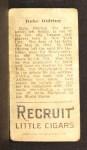 1912 T207  Rube Oldring    Back Thumbnail