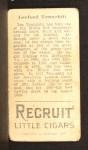 1912 T207  Lee Tannehill    Back Thumbnail