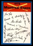 1973 Topps Blue Checklist   Expos Front Thumbnail