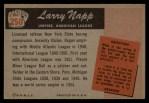 1955 Bowman #250  Larry Napp  Back Thumbnail