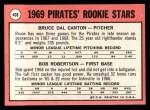 1969 Topps #468 YN  -  Bob Robertson / Del Canton Pirates Rookies Back Thumbnail