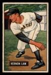 1951 Bowman #203  Vern Law  Front Thumbnail