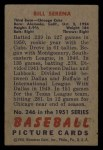 1951 Bowman #246  Bill Serena  Back Thumbnail