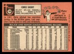1969 Topps #395  Chris Short  Back Thumbnail