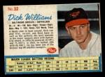 1962 Post #32  Dick Williams   Front Thumbnail