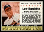 1961 Post Cereal #102 BOX Lew Burdette   Front Thumbnail