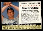 1961 Post #160 BOX Don Drysdale   Front Thumbnail
