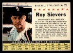 1961 Post Cereal #26 COM Roy Sievers   Front Thumbnail