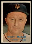 1957 Topps #291  Windy McCall  Front Thumbnail