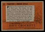 1956 Topps Davy Crockett #33   Fighting Back Thumbnail