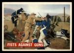 1956 Topps Davy Crockett #71   Fists Against Guns  Front Thumbnail