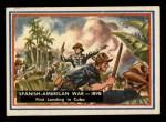 1953 Topps Fighting Marines #80   Spanish American War Front Thumbnail