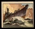 1950 Topps Freedoms War #174   Battleship  Front Thumbnail
