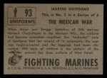 1953 Topps Fighting Marines #93   The Mexican War Back Thumbnail