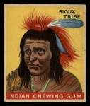 1947 Goudey Indian Gum #12   Sioux Tribe Front Thumbnail