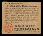 1949 Bowman Wild West #23 A  Dealing with Claim Back Thumbnail
