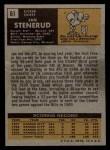 1971 Topps #61  Jan Stenerud  Back Thumbnail