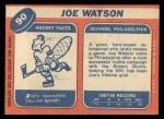 1968 Topps #90  Joe Watson  Back Thumbnail