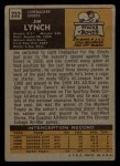 1971 Topps #232  Jim Lynch  Back Thumbnail