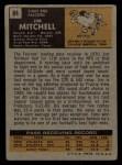 1971 Topps #84  Jim Mitchell  Back Thumbnail