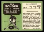 1970 Topps #91  Ron Schock  Back Thumbnail