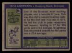 1972 Topps #154  Bob Anderson  Back Thumbnail