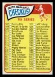 1965 Topps #508 LG  Checklist 7  Front Thumbnail
