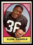 1967 Topps #110  Clem Daniels  Front Thumbnail