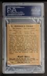 1940 Play Ball #212  Babe Young  Back Thumbnail