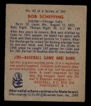 1949 Bowman #83 NAM Bob Scheffing  Back Thumbnail