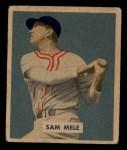 1949 Bowman #118  Sam Mele  Front Thumbnail