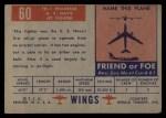 1952 Topps Wings #60   FH-1 Phantom Back Thumbnail